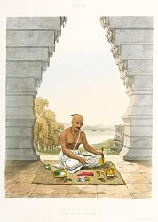Нажмите на изображение для увеличения.  Название:pd20-410015-Poojah of Vishnoo (pouring water on the Saligram).jpg Просмотров:1 Размер:55.1 Кб ID:17403