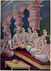Нажмите на изображение для увеличения.  Название:Krishna_and_Pandavasa_meet_Sanjaya.jpg Просмотров:0 Размер:88.9 Кб ID:18373